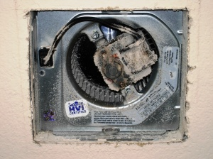 ventilation fans are typically installed in bathrooms and laundry